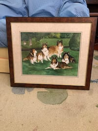 brown wooden framed painting of people Montclair, 07042