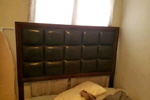 Queen size bed frame(Head board in pic)