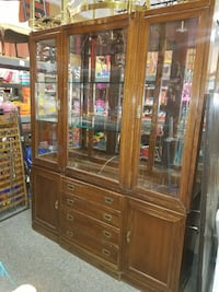 brown wooden framed glass display cabinet Forest Hill, 21050