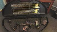 Black and brown compound bow set Winchester, 22602