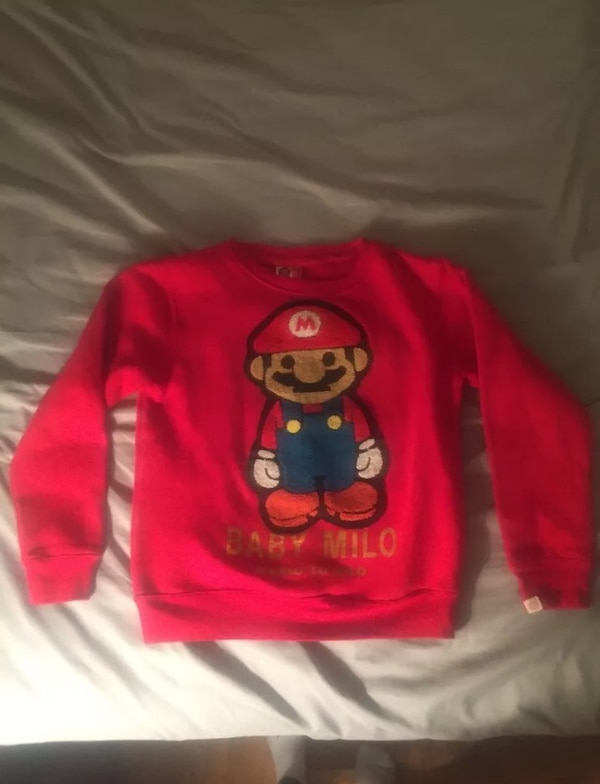 1c33a9683 Used Bape baby Milo Mario to Milo red crewneck size small men's for ...