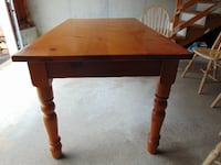 Rectangular Solid Wood Kitchen Table and 4 Solid Wood Chairs MILFORD