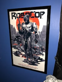 Framed Original ROBOCOP movie poster Wilmington, 28405