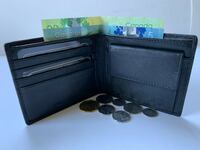 Black Leather Wallet /Coin Holder Toronto