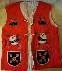 New Handmade oriental child size vest with detailed embroidered items  OKLAHOMACITY