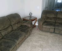 brown suede 3-seat sofa and loveseat 777 mi