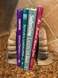 Gorgeous bookends - seashell - with gardening book decor Katy, 77450