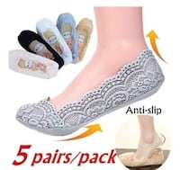 Lace slippers with cotton slip free bottoms Racine, 53402