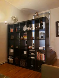 Large IKEA bookcase/room divider