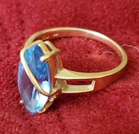 10k gold with Blue sapphire ring size 7.5  Gaithersburg, 20879