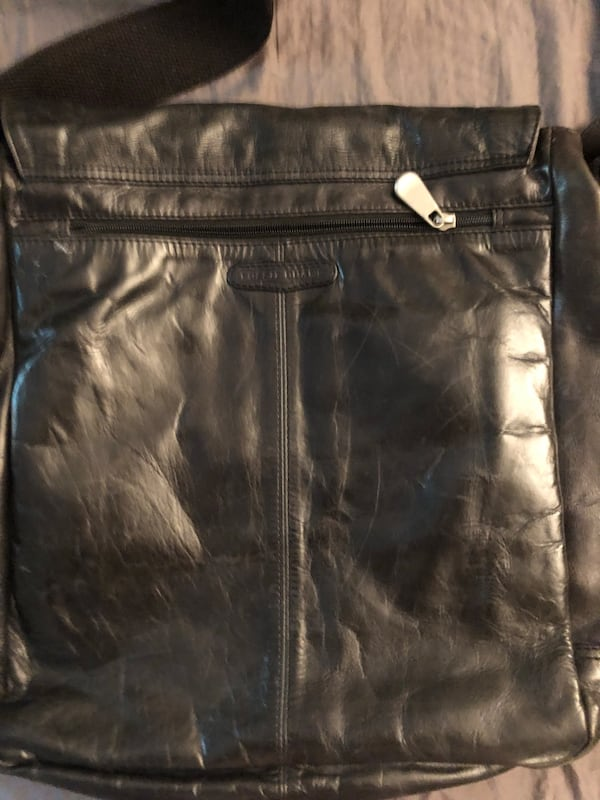 Leather Fossil men's messenger bag 3