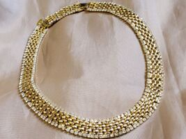 Kenneth Jay Lane Gold-Plated Necklace w/Crystals