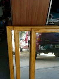 brown wooden framed wall mirror Tavares, 32778