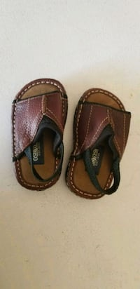 Baby Boy pair of brown leather sandals