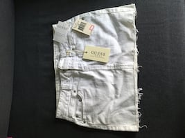 Guess White Denim Skirt size 26