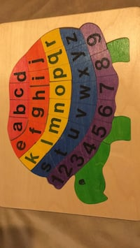 Alphabet Turtle wooden puzzle Cupertino, 95014