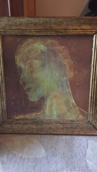 brown wooden framed painting of woman Sterling, 20164