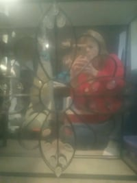 Wrought iron mirror art. Reduced. 30 today