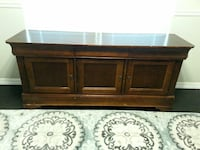 Solid Wood Buffet Table (Brown)