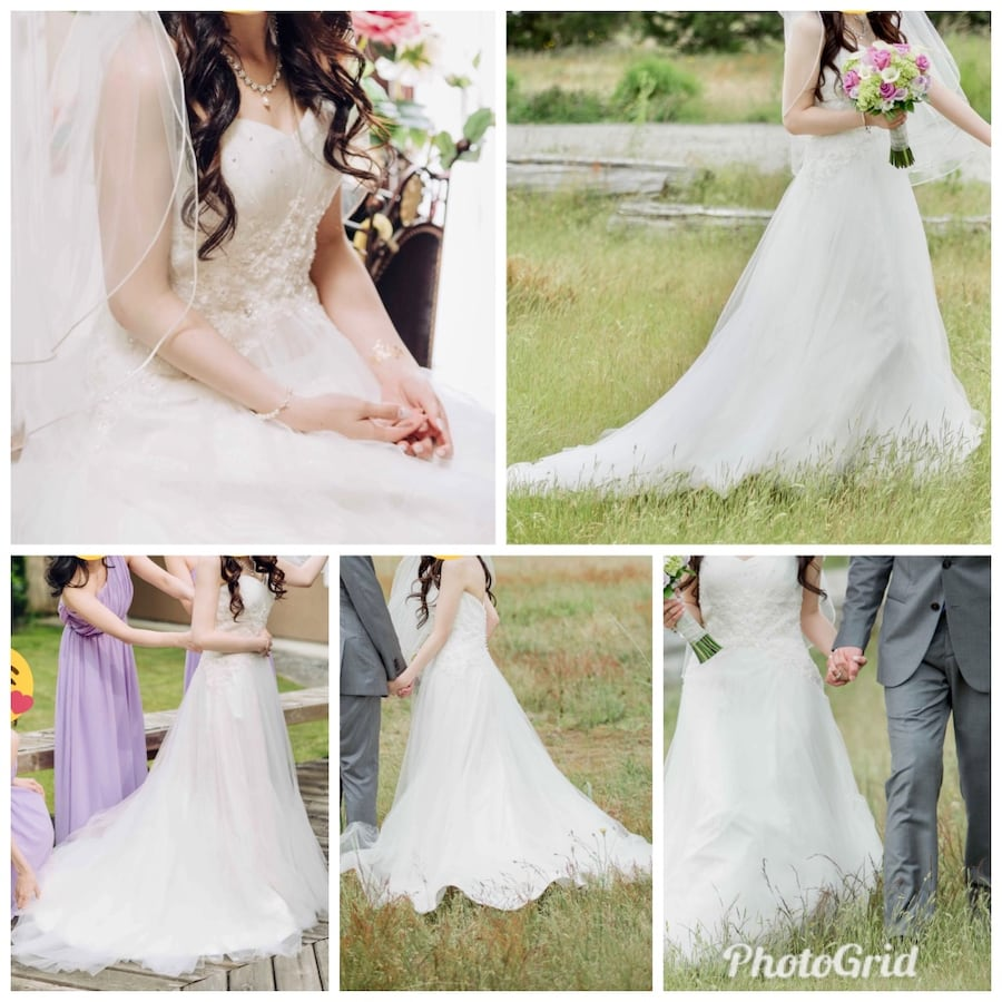 Elegant Wedding Gown - Used Once