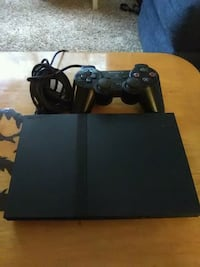 black Sony PS2 console with controller Lakewood, 80235