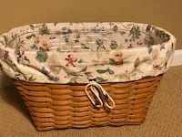 Longaberger 2000 Oval Laundry Basket W/Botanical Fields Liner and Protector Allentown, 18106
