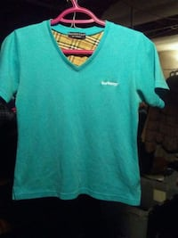 teal V-neck t-shirt Calgary, T2B 2C7