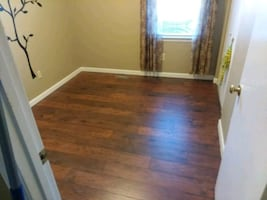 Laminate  vinyl and hardwood floor installation