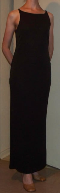 Long Olive Green dress suits Size 6/7 (worn only 2 times) clean null