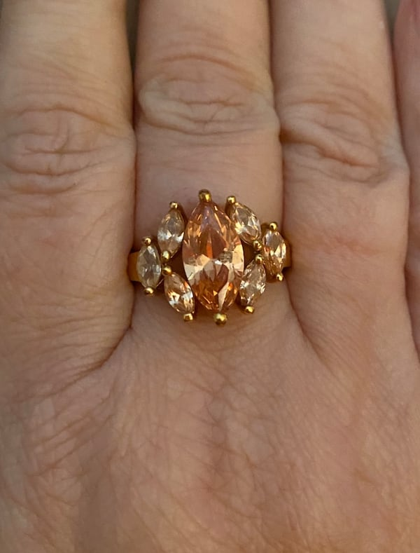 Genuine Citrine Ring in Gold over Sterling Silver 9d7342ba-c9aa-490b-b3b0-27f14929a4e2