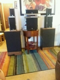 surround sound system  with old school music system with Panasonic rec