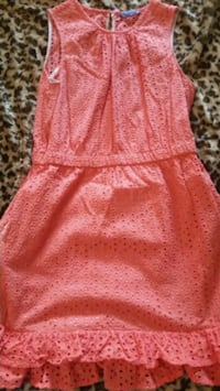 Women's Peter Som Coral Eyelet Dress Size 10 Clovis, 93611
