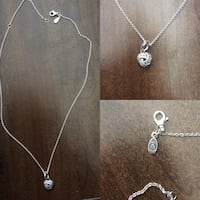 sterling silver pandora chain, with knotted love pendant  Bradford West Gwillimbury, L3Z