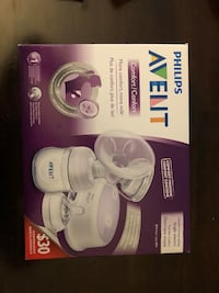 white and blue Lansinoh electric breast pump box Montréal, H3S 5X4