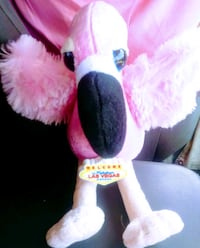 "Las Vegas Flamingo an tag- 12"" Plush"