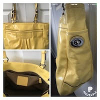 Authentic yellow Coach purse.