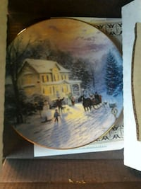 Collectible commemorative winter outside plate Spring Valley, 91977