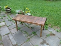 rectangular brown wooden table with bench Springtown, 18055