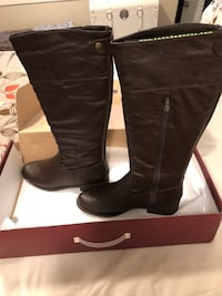 Ladies Boots new unworn. Size 10. Lined not fur. Asking $75 Calgary, T1Y 2G9