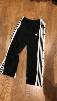Black and white adidas track pants Toronto, M9A 3N5