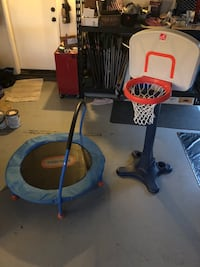 Kids basketball hope and trampoline  Menifee, 92584