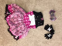 girl's black and pink floral dress Montgomery, 77356