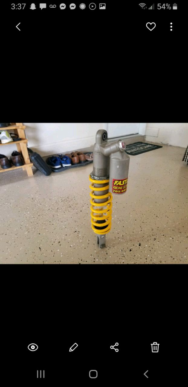 Photo Crf 250r 2007 shock absorber. Part number kz3ao.