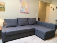 gray fabric sectional sofa with throw pillows Leesburg, 20175