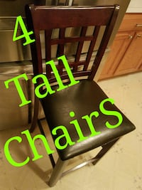 4 tall chairs for dining table or as bar stools