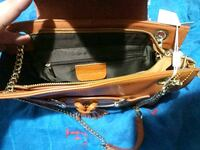 brown and black leather crossbody bag Boston, 02124