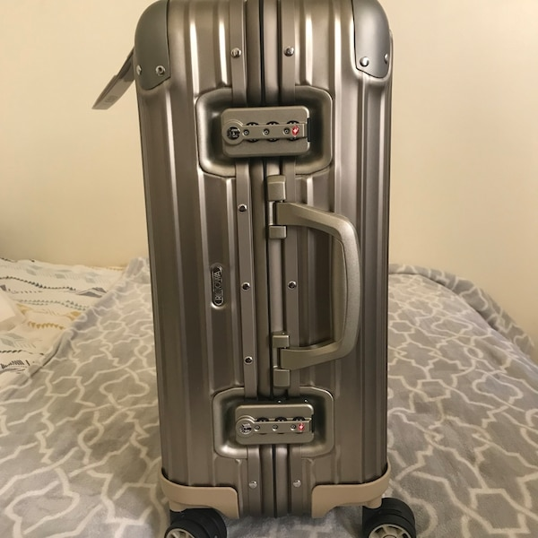 507996d78 Used RIMOWA TOPAS TITANIUM CARRY ON for sale in Chicago - letgo