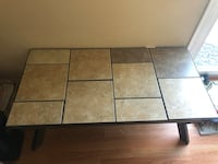 Nuetral coffee table and 2 end tables with lamps Howell