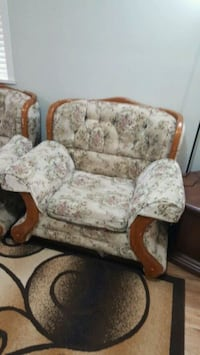 brown and beige floral fabric sofa chair Surrey, V3S 7R4