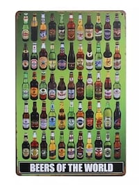 Beers of the world decorative sign Châteauguay, J6K 2M7